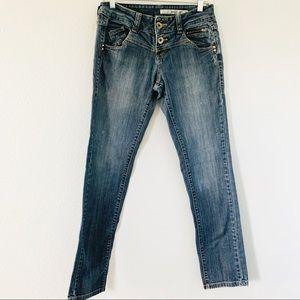 DKNY Jeans Medium Wash Straight Leg Jeans Sz 4